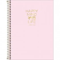 Caderno Espiral Capa Dura Universitário 1 Matéria Happy 80 Folhas (Pacote com 4 unidades) - Sortido