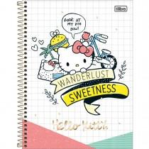 Imagem - Caderno Espiral Capa Dura Universitário 1 Matéria Hello Kitty 96 Folhas - Sortido (Pacote com 4 unidades)...