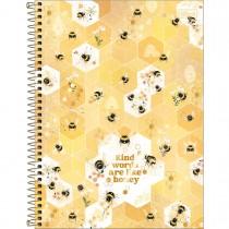 Imagem - Caderno Espiral Capa Dura Universitário 1 Matéria Honey Bee 80 Folhas - Sortido