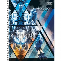 Imagem - Caderno Espiral Capa Dura Universitário 1 Matéria Horizon Zero Dawn 80 Folhas (Pacote com 4 unidades) - Sortido...