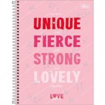 Imagem - Caderno Espiral Capa Dura Universitário 1 Matéria Love Pink 80 Folhas - Unique - Sortido