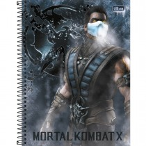 Imagem - Caderno Espiral Capa Dura Universitário 1 Matéria Mortal Kombat 80 Folhas (Pacote com 4 unidades) - Sortido...