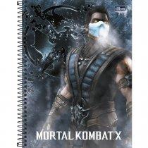 Imagem - Caderno Espiral Capa Dura Universitário 1 Matéria Mortal Kombat 80 Folhas - Sortido (Pacote com 4 unidades)...