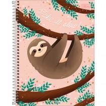 Caderno Espiral Capa Dura Universitário 1 Matéria Nap Nap 80 Folhas (Pacote com 4 unidades) - Sortido
