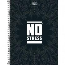Imagem - Caderno Espiral Capa Dura Universitário 1 Matéria No Stress 96 Folhas - Sortido (Pacote com 4 unidades)...