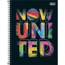 Caderno Espiral Capa Dura Universitário 1 Matéria Now United 80 Folhas - Logo Manchas - Sortido