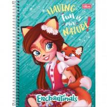 Imagem - Caderno Espiral Capa Dura Universitário 1 Matéria Polly Pocket e Enchantimals 80 Folhas (Pacote com 4 unidades) - Sortido...