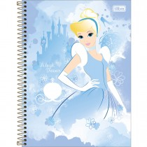 Imagem - Caderno Espiral Capa Dura Universitário 1 Matéria Princesas Light 80 Folhas (Pacote com 4 unidades) - Sortido...