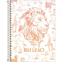 Caderno Espiral Capa Dura Universitário 1 Matéria Rei Leão 80 Folhas - Sortido