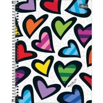 Caderno Espiral Capa Dura Universitário 1 Matéria Romero Britto 80 Folhas (Pacote com 4 unidades) - Sortido