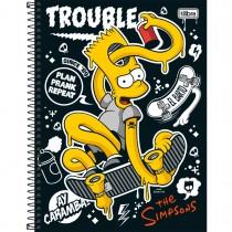Imagem - Caderno Espiral Capa Dura Universitário 1 Matéria Simpsons 96 Folhas - Sortido