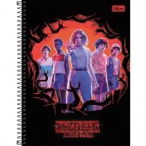 Imagem - Caderno Espiral Capa Dura Universitário 1 Matéria Stranger Things 80 Folhas - Sortido