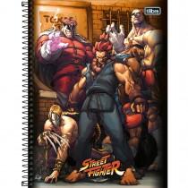 Imagem - Caderno Espiral Capa Dura Universitário 1 Matéria Street Fighter 80 Folhas - Sortido (Pacote com 4 unidades)...