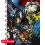 Imagem - Caderno Espiral Capa Dura Universitário 1 Matéria Thor 80 Folhas - Sortido (Pacote com 4 unidades)