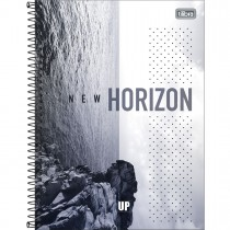 Imagem - Caderno Espiral Capa Dura Universitário 1 Matéria UP 80 Folhas - New Horizon - Sortido