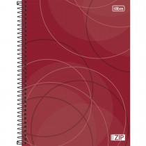 Imagem - Caderno Espiral Capa Dura Universitário 1 Matéria Zip 80 Folhas - Sortido (Pacote com 4 unidades)