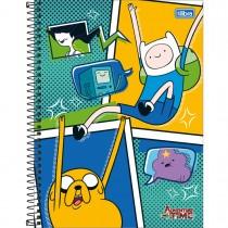 Imagem - Caderno Espiral Capa Dura Universitário 10 Matérias Adventure Time 200 Folhas - Sortido (Pacote com 4 unidades)...
