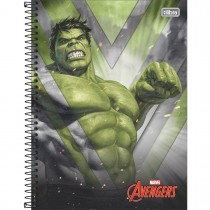 Imagem - Caderno Espiral Capa Dura Universitário 10 Matérias Avengers 160 Folhas (Pacote com 4 unidades) - Sortido...