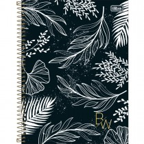 Caderno Espiral Capa Dura Universitário 10 Matérias B&W 160 Folhas (Pacote com 4 unidades) - Sortido