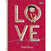 Imagem - Caderno Espiral Capa Dura Universitário 10 Matérias Betty Boop 160 Folhas (Pacote com 4 unidades) - Sortido...