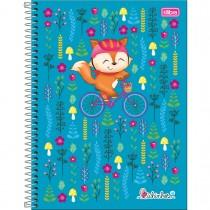 Imagem - Caderno Espiral Capa Dura Universitário 10 Matérias Bichinhos 200 Folhas (Pacote com 4 unidades) - Sortido...