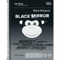 Imagem - Caderno Espiral Capa Dura Universitário 10 Matérias Black Mirror 160 Folhas - Sortido