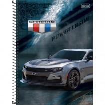 Caderno Espiral Capa Dura Universitário 10 Matérias Camaro & Corvette 160 Folhas (Pacote com 4 unidades) - Sortido