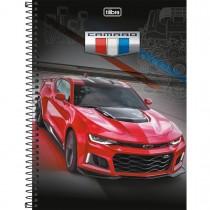 Imagem - Caderno Espiral Capa Dura Universitário 10 Matérias Camaro & Corvette 200 Folhas (Pacote com 4 unidades) - Sortido...