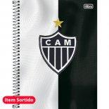 Imagem - Caderno Espiral Capa Dura Universitário 10 Matérias Clube de Futebol Atlético Mineiro 200 Folhas - Sortido (Pacote com 4 unidade...