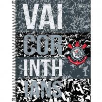 Imagem - Caderno Espiral Capa Dura Universitário 10 Matérias Clube de Futebol Corinthians 160 Folhas (Pacote com 4 unidades) - Sortido...