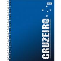 Imagem - Caderno Espiral Capa Dura Universitário 10 Matérias Clube de Futebol Cruzeiro 160 Folhas (Pacote com 4 unidades) - Sortido...