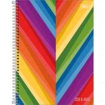 Imagem - Caderno Espiral Capa Dura Universitário 10 Matérias Cor e Arte 200 Folhas - Sortido (Pacote com 4 unidades)...