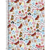 Imagem - Caderno Espiral Capa Dura Universitário 10 Matérias D+ Feminino 200 Folhas (Pacote com 4 unidades) - Sortido...