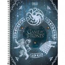 Imagem - Caderno Espiral Capa Dura Universitário 10 Matérias Game of Thrones 160 Folhas (Pacote com 4 unidades) - Sortido...