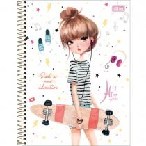 Imagem - Caderno Espiral Capa Dura Universitário 10 Matérias Hi! Girls 160 Folhas (Pacote com 4 unidades) - Sortido...