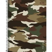 Caderno Espiral Capa Dura Universitário 10 Matérias Hide 160 Folhas (Pacote com 4 unidades) - Sortido