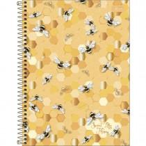 Imagem - Caderno Espiral Capa Dura Universitário 10 Matérias Honey Bee160 Folhas - Sortido