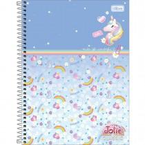 Caderno Espiral Capa Dura Universitário 10 Matérias Jolie Classic 160 Folhas (Pacote com 4 unidades) - Sortido