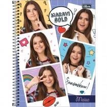 Imagem - Caderno Espiral Capa Dura Universitário 10 Matérias Maisa 160 Folhas - Sortido (Pacote com 4 unidades)...