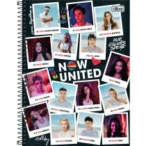 Imagem - Caderno Espiral Capa Dura Universitário 10 Matérias Now United 160 Folhas - Fotografias - Sortido