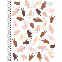 Imagem - Caderno Espiral Capa Dura Universitário 10 Matérias Oh My God 160 Folhas - Sortido
