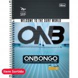 Imagem - Caderno Espiral Capa Dura Universitário 10 Matérias Onbongo 200 Folhas - Sortido (Pacote com 4 unidades)...