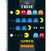 Imagem - Caderno Espiral Capa Dura Universitário 10 Matérias Pac Man Clássico 200 Folhas - Sortido (Pacote com 4 unidades)...