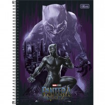Imagem - Caderno Espiral Capa Dura Universitário 10 Matérias Pantera Negra 160 Folhas (Pacote com 4 unidades) - Sortido...