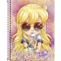 Imagem - Caderno Espiral Capa Dura Universitário 10 Matérias Polly Pocket 200 Folhas - S...