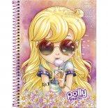 Imagem - Caderno Espiral Capa Dura Universitário 10 Matérias Polly Pocket 200 Folhas - Sortido (Pacote com 4 unidades)...