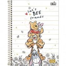 Imagem - Caderno Espiral Capa Dura Universitário 10 Matérias Pooh 160 Folhas - Sortido