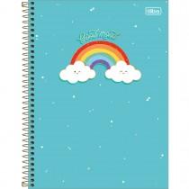 Imagem - Caderno Espiral Capa Dura Universitário 10 Matérias Rainbow 160 Folhas (Pacote com 4 unidades) - Sortido...
