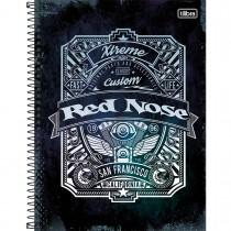 Imagem - Caderno Espiral Capa Dura Universitário 10 Matérias Red Nose 160 Folhas - Sortido (Pacote com 4 unidades)...