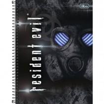 Imagem - Caderno Espiral Capa Dura Universitário 10 Matérias Resident Evil 200 Folhas (Pacote com 4 unidades) - Sortido...